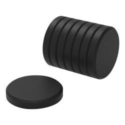 "U Brands High Energy Metal Magnets for Glass Dry Erase Boards, 1 3/8"", Black, Pack of 8"