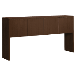 "HON 10500 Series Stack-On Hutch - 71.9"" x 14.6"" x 37.1"" - Drawer(s)4 Door(s) - Square Edge - Material: Wood Grain Work Surface, Metal Fastener - Finish: Mocha, Thermofused Laminate (TFL), Chrome Plated Hinge"