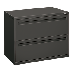 "HON® Brigade® 700 36""W Lateral 2-Drawer File Cabinet, Metal, Charcoal"
