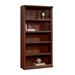 Reale Bookcase 5 Shelf Brick Cherry