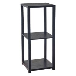 "Adesso® Lawrence Pedestal Table, Square, 27-3/4""H x 11-1/2""W x 11-1/2""D, Black"