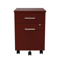 "Linea Italia, Inc 20""D Vertical Mobile File Cabinet, Cherry"