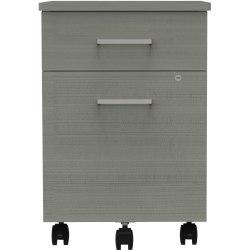"Linea Italia, Inc 20""D Vertical Mobile File Cabinet, Ash"