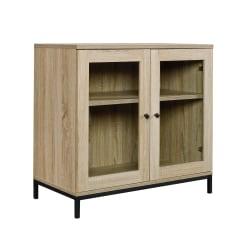 "Sauder® North Avenue Display Cabinet For 32"" TVs, 28-7/8""H x 31-1/2""W x 16-1/4""D, Charter Oak"