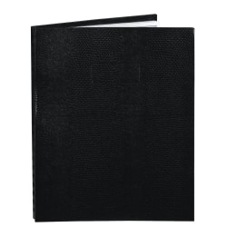 "Blueline® NotePro™ 50% Recycled Notebook, 8 1/2"" x 11"", College Ruled, 100 Sheets, Lizard-Like Black"