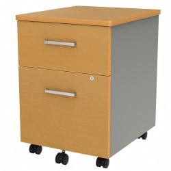 "Linea Italia, Inc 20""D Vertical Mobile File Cabinet, Maple"