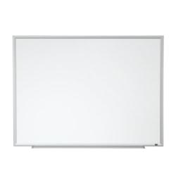 """3M™ Porcelain Magnetic Dry-Erase Board, Aluminum Frame, Silver, 36"""" x 48"""""""