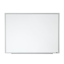 "3M™ Porcelain Magnetic Dry-Erase Whiteboard, 36"" x 48"", Aluminum Frame With Silver Finish"