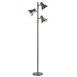 """Kenroy Home Ash Tree Floor Lamp, 64""""H, Brushed Steel"""