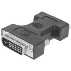 Manhattan DVI-I Dual Link Male to VGA Female Digital Video Adapter - Fully shielded - ideal for all monitor sizes and types