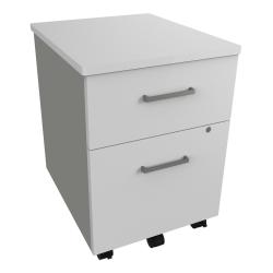 """Linea Italia, Inc 20""""D Vertical Mobile File Cabinet, White"""