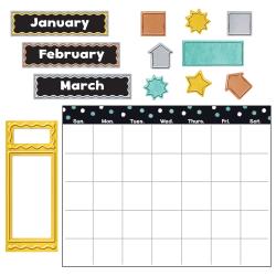 Trend I Heart Metal 30-Piece Wipe-Off Calendar Bulletin Board Set, Multicolor