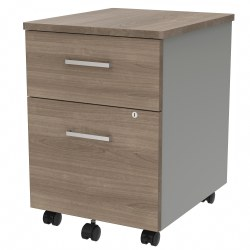 "Linea Italia, Inc 20""D Vertical Mobile File Cabinet, Natural Walnut"