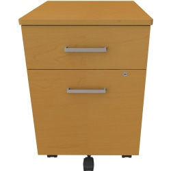 "Linea Italia, Inc 20""D Mobile Vertical File Cabinet, Maple"
