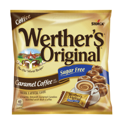 Werther's Original Sugar-Free Caramel Coffee Candy, 1.46 Oz, Pack Of 12 Bags