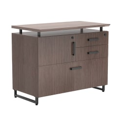 "Forward Furniture Horizon 36""W Lateral 3-Drawer File Cabinet, Colorado Walnut"