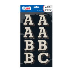 """Creative Start® Chalk Letters, 3"""", Block, Black/Light Gray, Pack Of 84"""