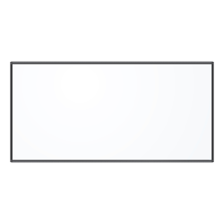 "U Brands PINIT Magentic Dry-Erase Whiteboard, 48"" x 96"", Aluminum Frame With Black Finish"