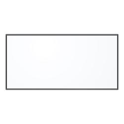 "U Brands PINIT Magentic Dry-Erase Board, Steel, 96"" x 48"", White Board, Black Aluminum Frame"
