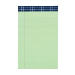 """Office Depot® Brand Fashion Legal Pad, 5"""" x 8"""", Narrow Rule, 100 Pages (50 Sheets), Stripe/Green"""