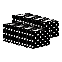 Barker Creek Tab File Folders, Letter Size, Black & White Dot, Pack Of 24 Folders