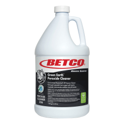 Betco Green Earth Peroxide Cleaner - Concentrate Liquid - 128 fl oz (4 quart) - Fresh Mint Scent - 1 Each - Clear