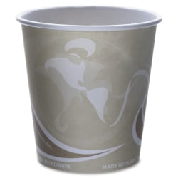 Eco-Products Recycled Hot Cups - 50 / Pack - 10 fl oz - 500 / Carton - Multi - Fiber - Hot Drink - Recycled