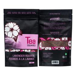 Tea Squared Lavender Rooibos Organic Loose Leaf Tea, 2.8 Oz, Carton Of 3 Bags