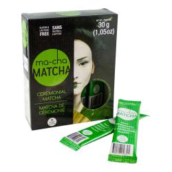 Ma-Cha Ceremonial Organic Matcha Sticks, 1.08 Oz, Carton Of 3 Boxes