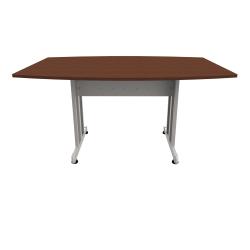 "Linea Italia, Inc 60""W Boat-Shaped Conference Table, Ash/Gray"