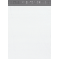 """Office Depot® Brand Poly Mailers, 14"""" x 17"""", White, Case Of 500"""