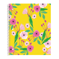 "Office Depot® Brand Stellar Poly Notebook, 8-1/2"" x 11"", 1 Subject, College Ruled, 160 Pages (80 Sheets), Floral"
