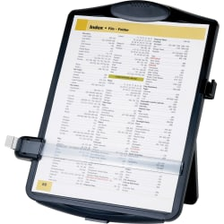 "Sparco Adjustable Easel Document Holder - 10"" x 2"" x 14"" - 1 Each - Black"