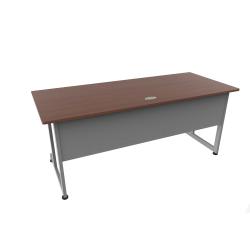 """Linea Italia, Inc. 72""""W Computer Desk, Gray/Cherry"""