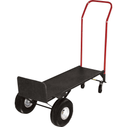 Sparco Convertible Hand Truck With Deck, 800 Lb. Capacity, Gray