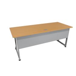 """Linea Italia, Inc. 72""""W Computer Desk, Gray/Maple"""