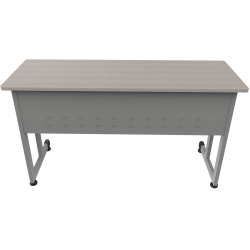 "Linea Italia, Inc. 55""W Training Desk, Gray/Ash"