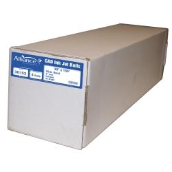 "Alliance® CAD Bond Paper, 3"" Core, 30"" x 150', 92 Brightness, 20 Lb, White, Pack Of 4 Rolls"