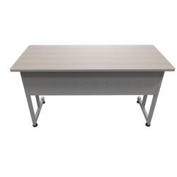 """Linea Italia, Inc. 55""""W Computer Desk, Gray/Ash"""