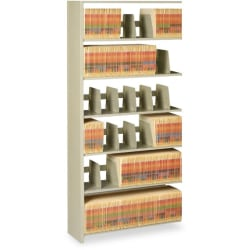 """Tennsco 88""""H Add-On Unit For Snap-Together Open Shelving, Sand"""