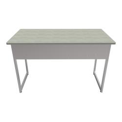 """Linea Italia, Inc. 48""""W Quattra Computer Desk, Gray/Ash"""