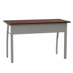 """Linea Italia, Inc. 47""""W Office Desk, Gray/Cherry"""