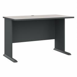 "Bush Business Furniture Office Advantage Desk 48""W, Slate/White Spectrum, Standard Delivery"