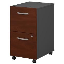 Bush Business Furniture Components 2 Drawer Mobile File Cabinet, Hansen Cherry/Graphite Gray, Standard Delivery