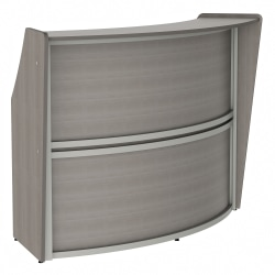"Linea Italia, Inc 70""W 1-Unit Curved Reception Desk, Ash"