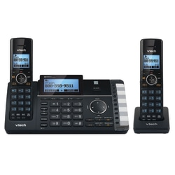 VTech® DS6251-2 DECT 6.0 Expandable 2-Line Cordless Phone With Answering System, 80-1375-00