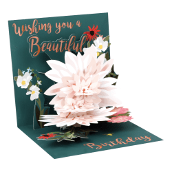 """Up With Paper Everyday Pop-Up Greeting Card, 5-1/4"""" x 5-1/4"""", Beautiful Birthday"""