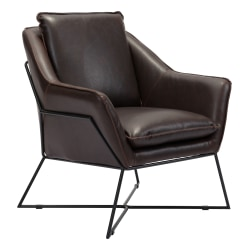 Zuo® Modern Lincoln Lounge Chair, Brown/Black