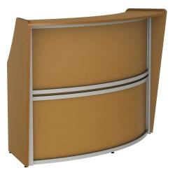 "Linea Italia, Inc 70""W 1-Unit Curved Reception Desk, Maple"