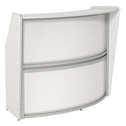 """Linea Italia, Inc 70""""W 1-Unit Curved Reception Desk, White"""